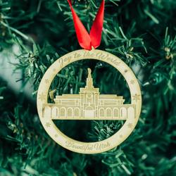 Bountiful Temple Ornament - Wood - LDP-ORN-BOUNTIFUL-WOOD