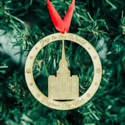 Brigham City Temple Ornament - Wood - LDP-ORN-BRIGCITY-WOOD