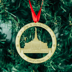 Gilbert Temple Ornament - Wood