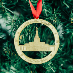 Idaho Falls Temple Ornament - Wood idaho falls temple, ornament, temple ornament, idaho falls temple ornament, LDS idaho falls temple, christmas ornament, lds christmas ornament, lds christmas gifts