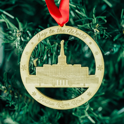 Jordan River Temple Ornament - Wood jordan river temple, jordan river temple ornament, jordan river temple decor, lds jordan river temple, wood temple ornament, lds temple ornament, lds christmas gift, lds christmas decor, lds gifts, wood ornament, lds wood ornaments