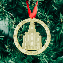Manti Temple Ornament - Wood manti temple, manti temple ornament, lds manti temple, manti temple decor, lds christmas decor wood temple ornament, wood ornament, lds wood ornament, lds gifts, lds temple gifts, lds christmas gifts
