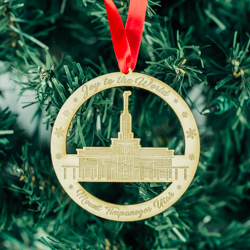Mount Timpanogos Temple Ornament - Wood