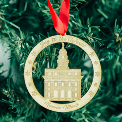 Nauvoo Temple Ornament - Wood nauvoo temple, nauvoo temple temple ornament, nauvoo temple decor, lds nauvoo temple, lds christmas ornament, lds ornament, lds gifts, lds christmas gifts, lds temple ornaments