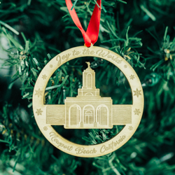 Newport Beach Temple Ornament - Wood newport beach temple, newport beach temple ornament, newport beach temple decor, newport beach temple wood ornament, temple orament, lds temple decor, lds temple gifts, lds gifts, lds christmas gifts