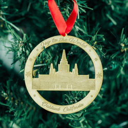 Oakland Temple Ornament - Wood oakland temple, oakland temple ornament, oakland temple decor, lds temple ornament, lds temple decor, lds christmas gifts, lds gifts,