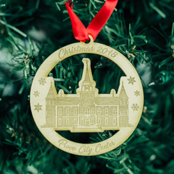 Provo City Center Temple Ornament - Wood