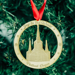 Portland Temple Ornament - Wood portland oregon temple ornament, portland oregon temple, lds portland oregon temple, lds ornaments, lds christmas ornaments, lds christmas gifts