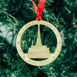 Preston England Temple Ornament - Wood  preston england temple, lds preston england temple, preston england temple decor, preston england temple ornament, preston england temple lds ornament, lds temple ornament, lds christmas ornament, lds christmas gifts, lds gifts
