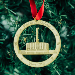 Provo Temple Ornament - Wood