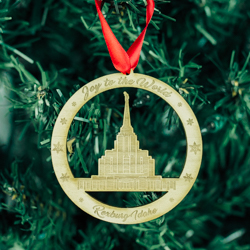 Rexburg Temple Ornament - Wood rexburg idaho temple, rexburg idaho temple ornament, lds temple ornament, lds ornament, lds christmas gifts, lds christmas ornamments