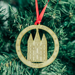 Salt Lake City Temple Ornament - Wood