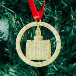 St. George Temple Ornament - Wood st gearge temple, st gearge temple ornament, st gearge temple decor, temple ornament, lds ornament, lds wood ornament, lds gifts, lds christmas gifts