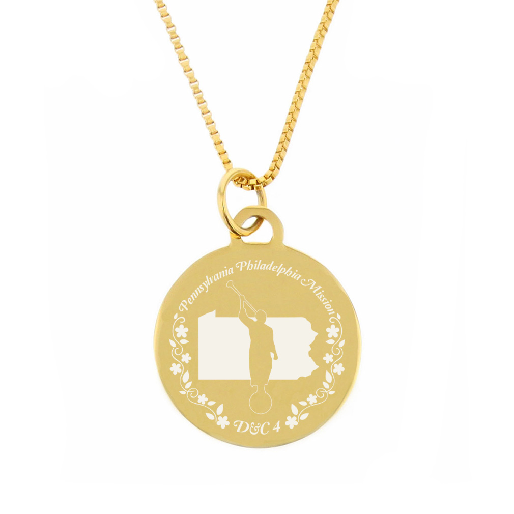Pennsylvania Mission Necklace - Silver/Gold - LDP-CPN77