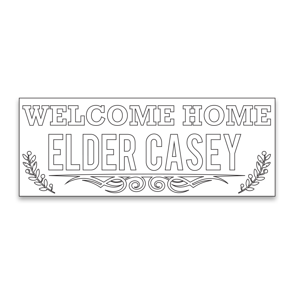 Personalized Coloring Missionary Banner - Branches - LDP-PCMSPST264