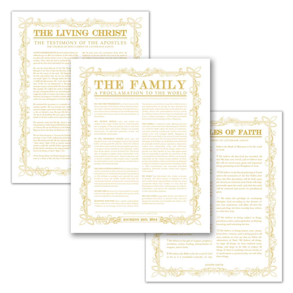 Personalized Filled Leaf Family Poster Pack - LDP-CFPP281