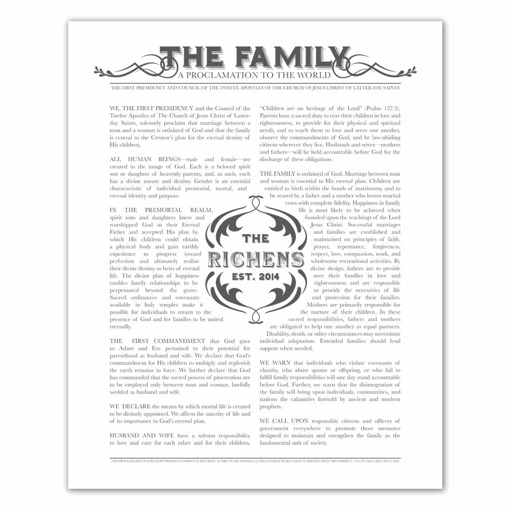 Personalized Newspaper Family Proclamation - LDP-CFP285