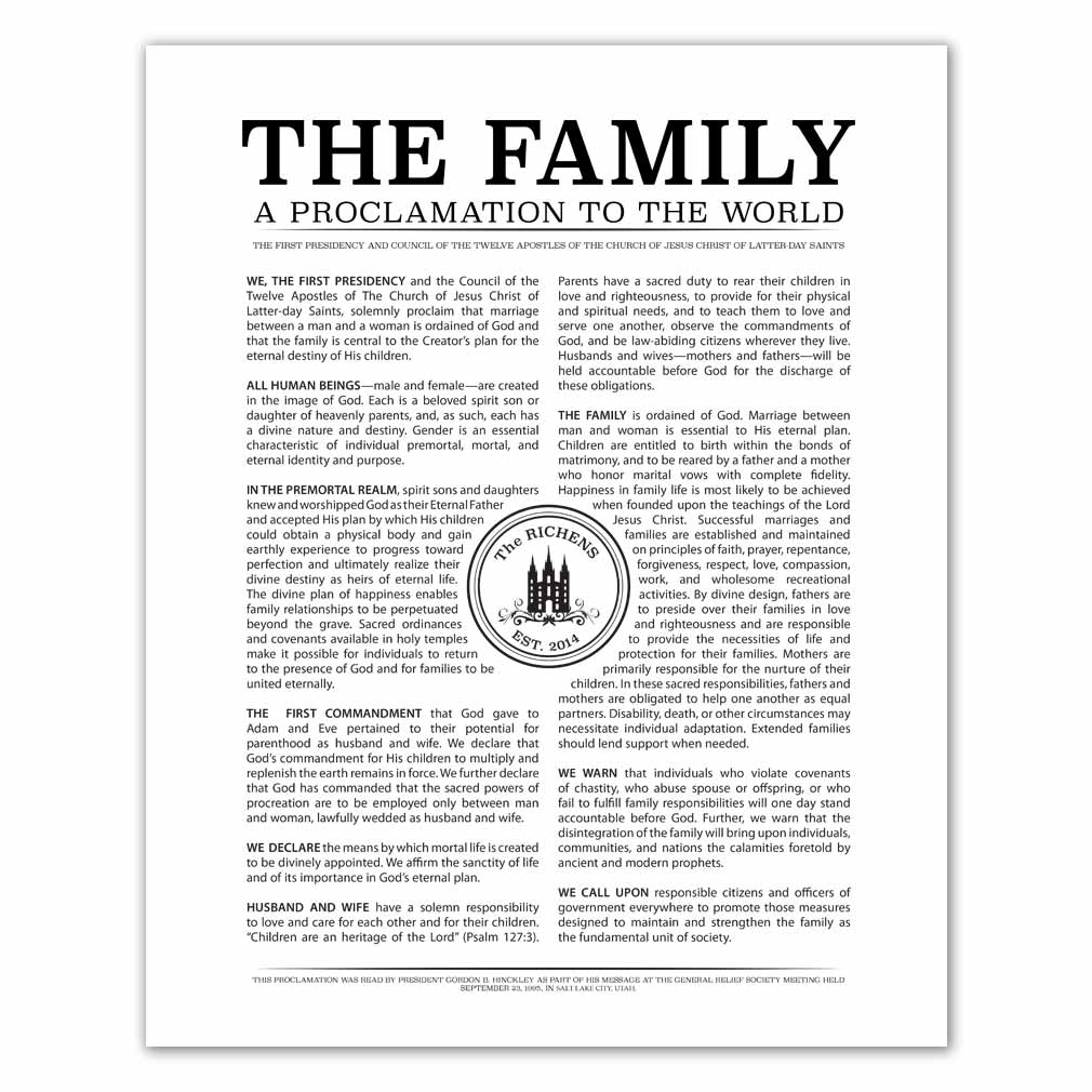 Personalized Temple Stamp Family Poster Pack - LDP-CFPP283