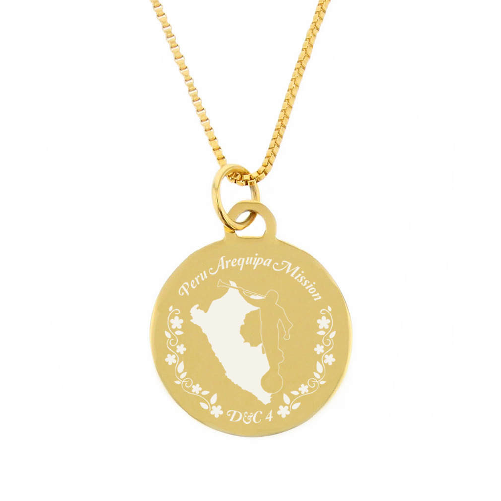 Peru Mission Necklace - Silver/Gold - LDP-CPN23