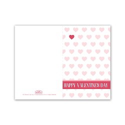 Pink Heart Patterns Valentine's Day Card - Printable