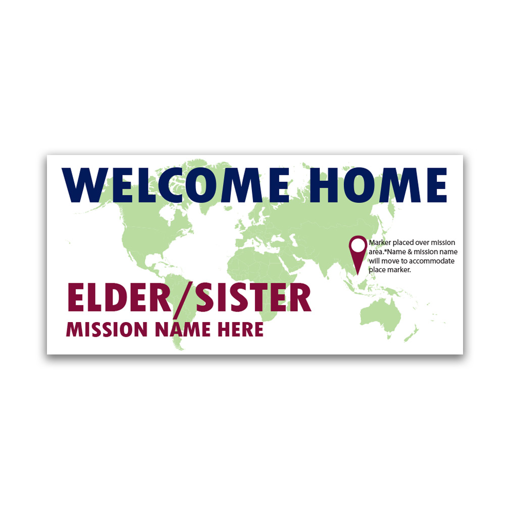 Pinpoint Missionary Banner - LDP-MSPSTPIN