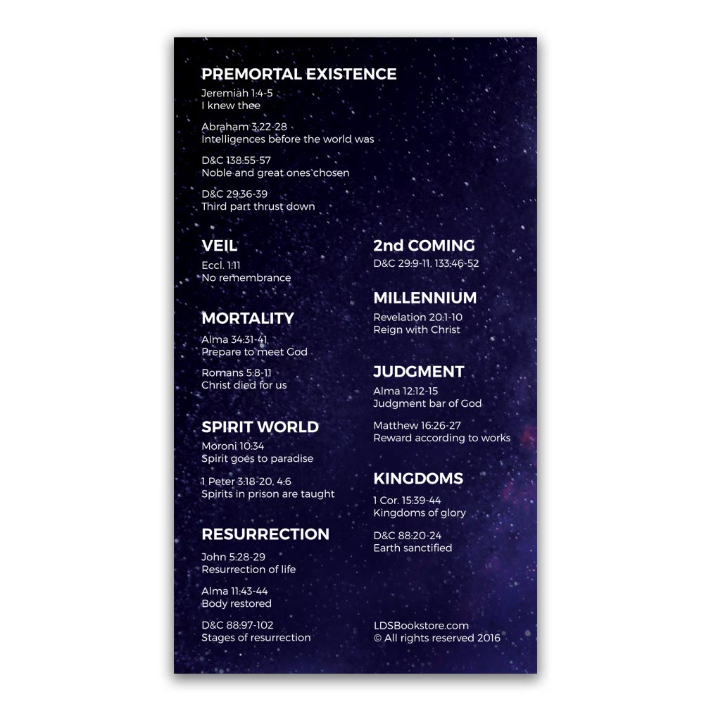 Plan of Salvation Bookmark - Galaxy - LDP-POSBKMKGALAXY
