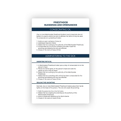 Pocket Priesthood Ordinance Card pocket priesthood ordinance card, priesthood ordinance card