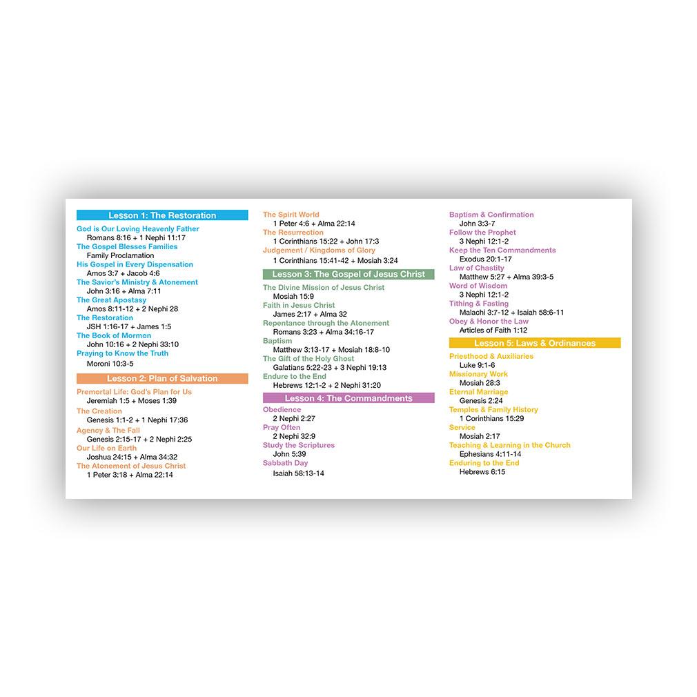 Preach My Gospel Pocket Card - LDP-CRD227