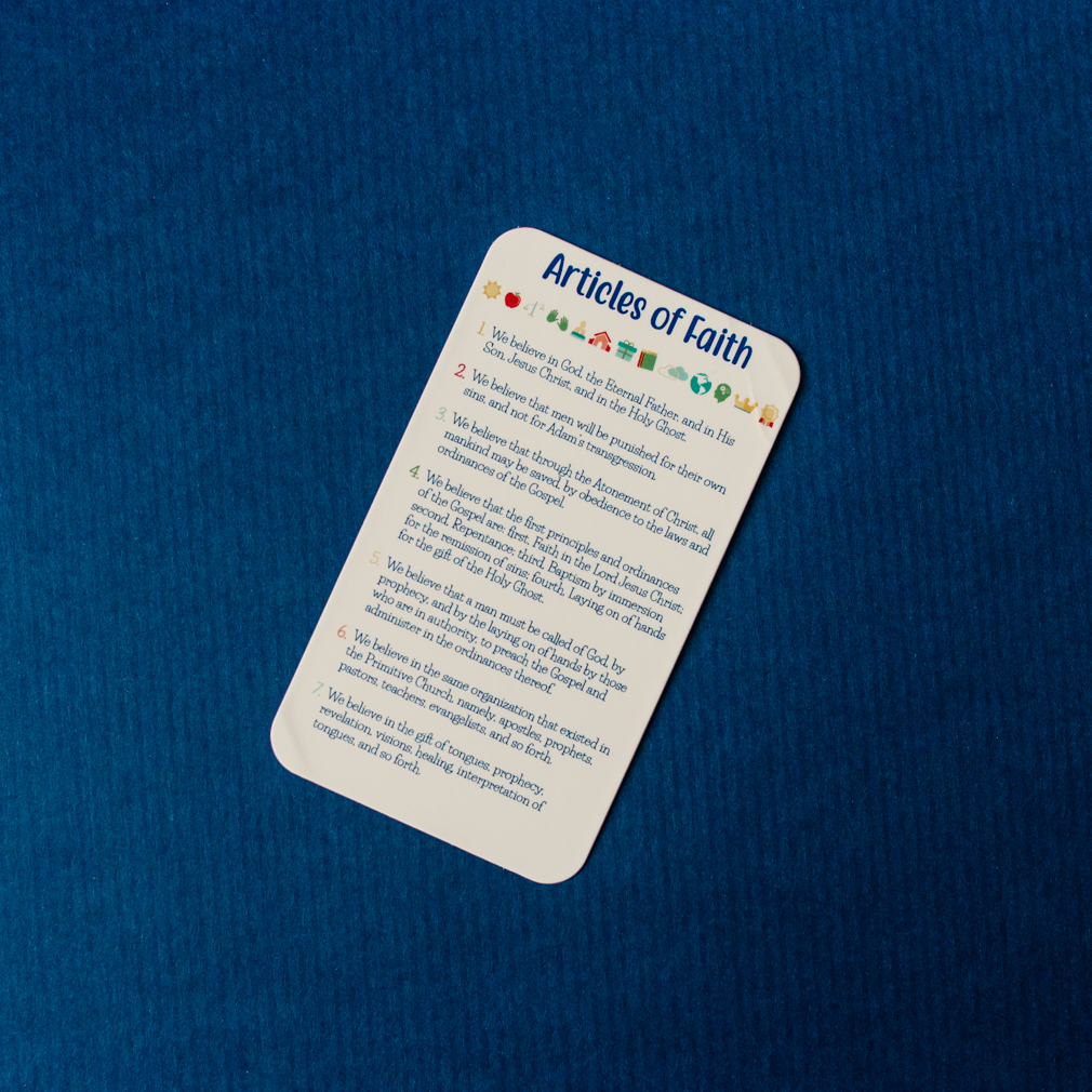 Articles of Faith Pocket Card - Kids - LDP-PKC324