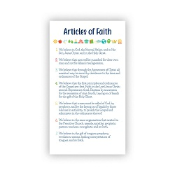 Articles of Faith Pocket Card - Kids
