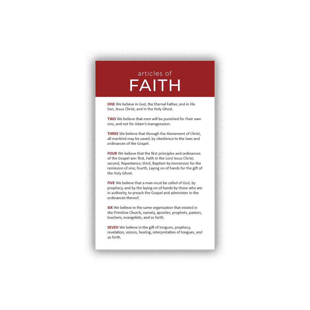 photo relating to Articles of Faith Printable Cards named Content articles of Religion Pocket Card