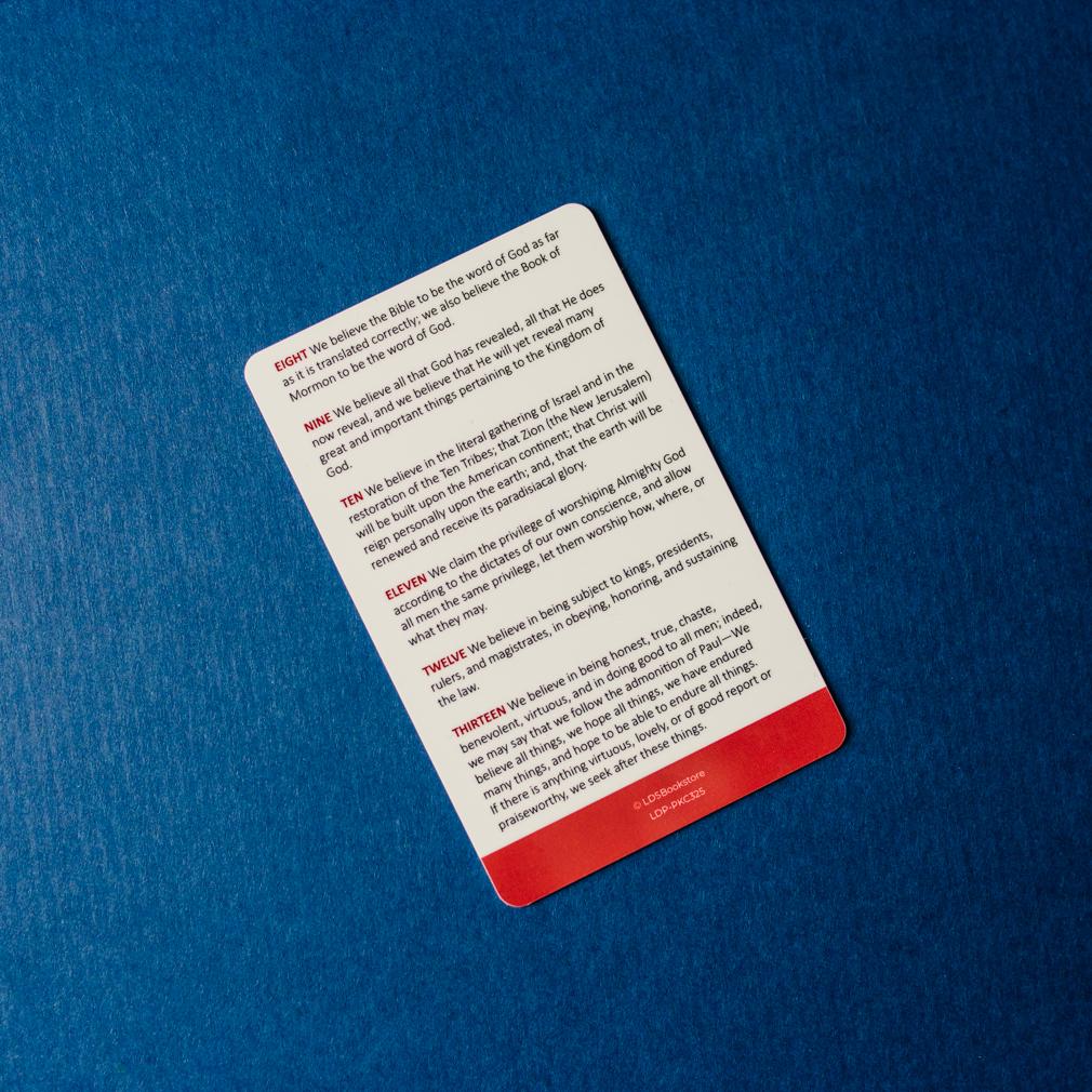 Articles of Faith Pocket Card - LDP-PKC325