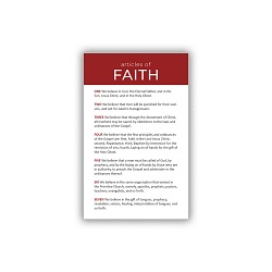 Articles of Faith Pocket Card