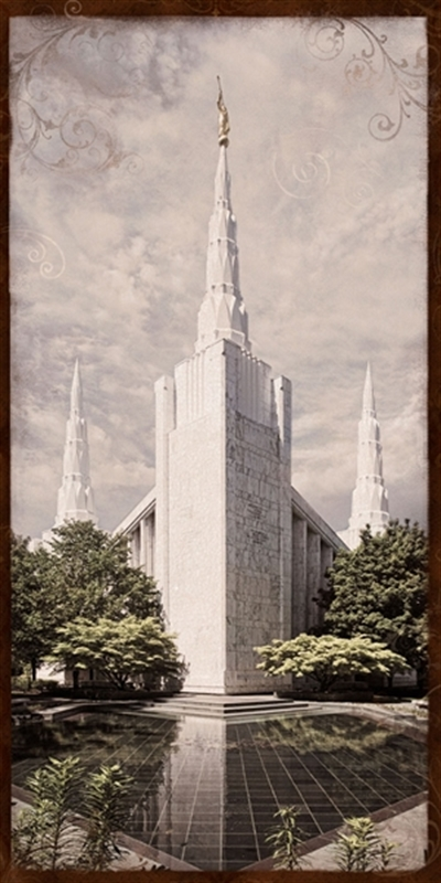 Portland Temple - Reflecting Pool Art Nouveau
