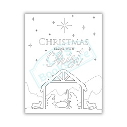 Christmas Begins With Christ Coloring Page - Printable