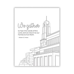 Hear the Words of the Lord General Conference Coloring Page - Printable