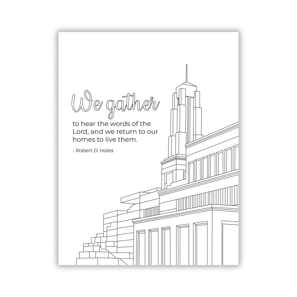 photograph regarding Gather Printable named Listen the Phrases of the Lord Over-all Convention Coloring Webpage - Printable