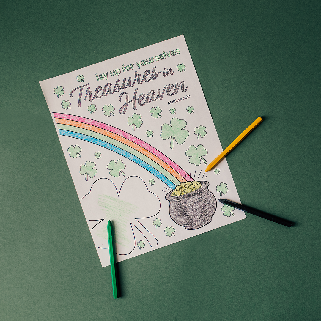 Treasures in Heaven Coloring Page - Printable - LDPD-COLOR-STPAT19
