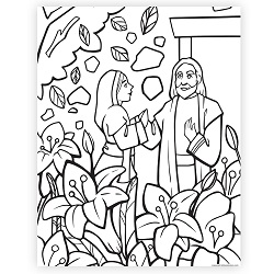 The Garden Tomb Easter Coloring Page - Printable free easter coloring page, lds easter printable, lds easter, easter printable