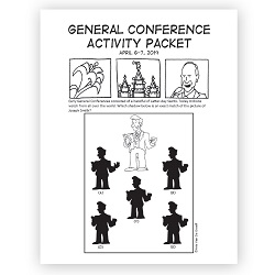 April 2019 General Conference Activity Packet Printable - English general conference printable, general conference activity packet, free general conference printable,