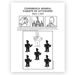 April 2019 General Conference Activity Packet Printable - Spanish general conference printable, general conference activity packet, free general conference printable,