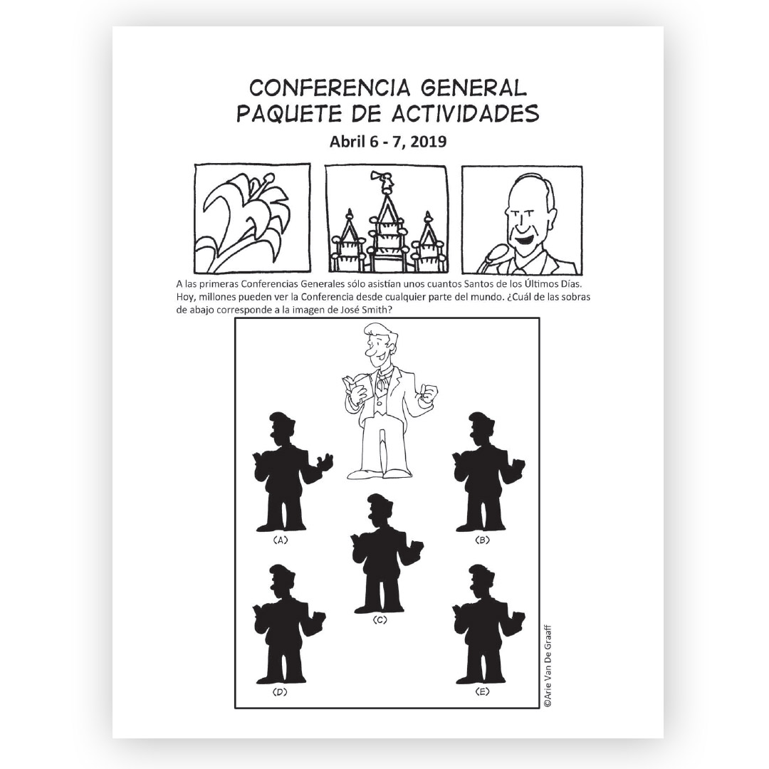 April 2019 General Conference Activity Packet Printable Spanish