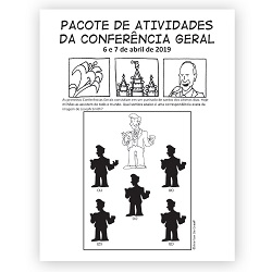 April 2019 General Conference Activity Packet Printable - Portuguese