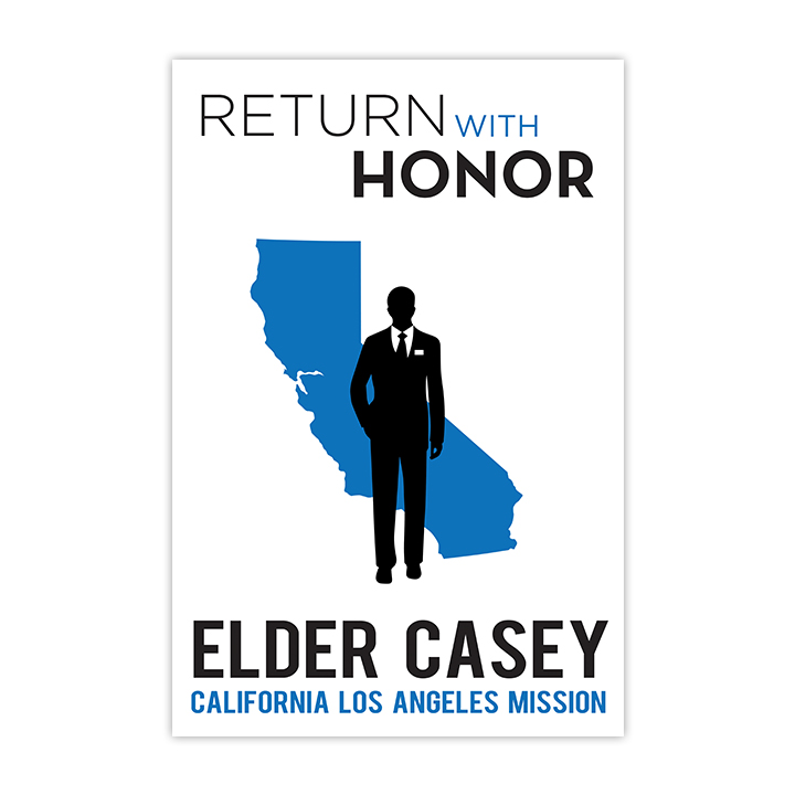Return With Honor Missionary Welcome Home Sign - Elder welcome home missionary signs, welcome home missionary banners, lds missionary banners