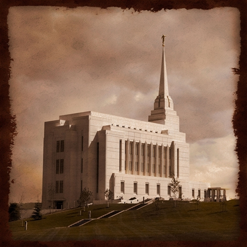 Rexburg Temple - Summer Lawn Art Nouveau
