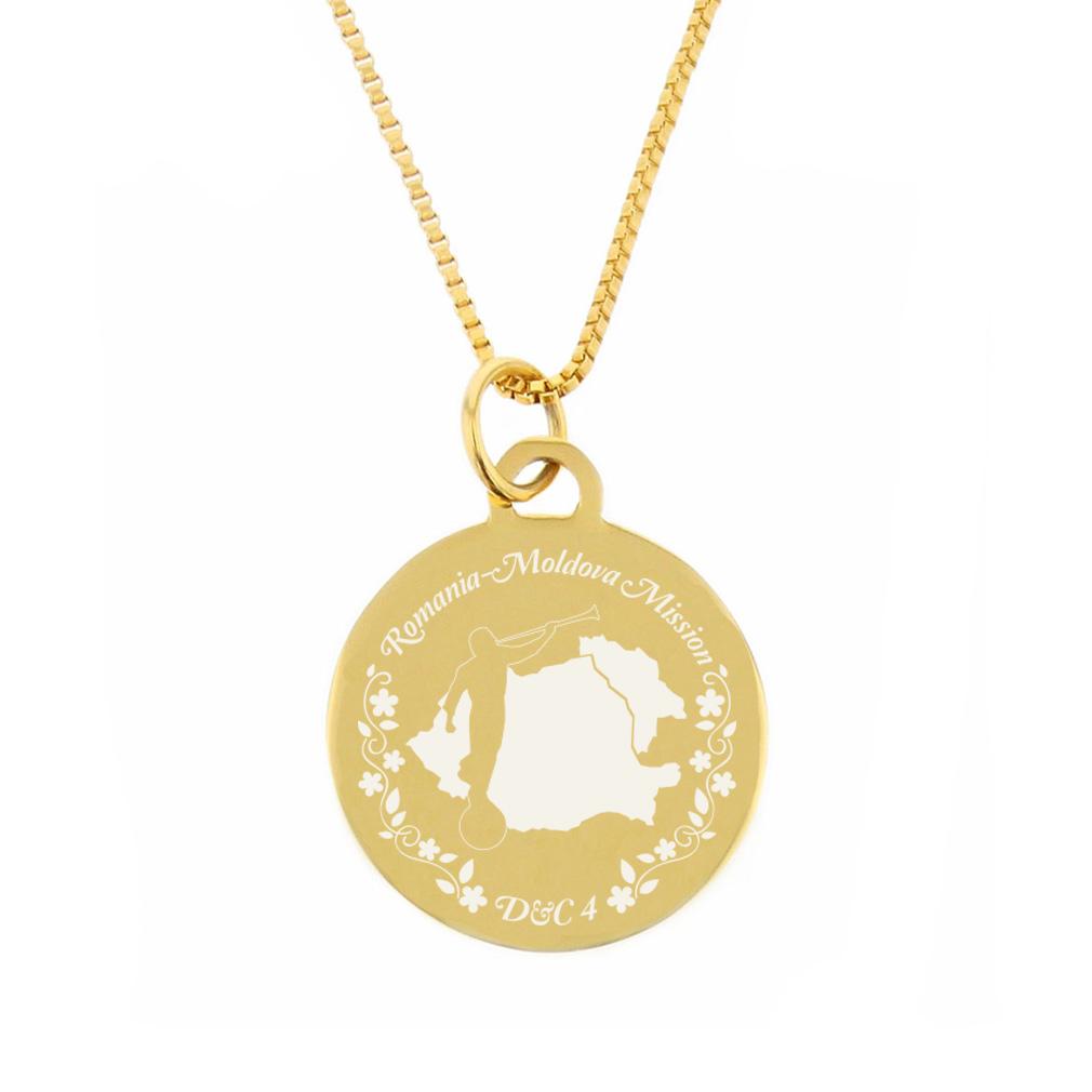 Romania/Moldova Mission Necklace - Silver/Gold - LDP-CPN175