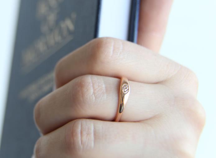 Micro Mini CTR Ring - Rose Gold - RM-C17070