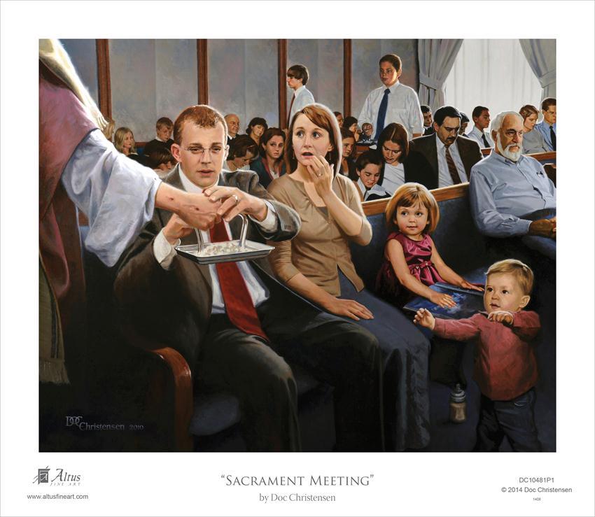Sacrament Meeting - Framed in Gospel Art   LDSBookstore ...
