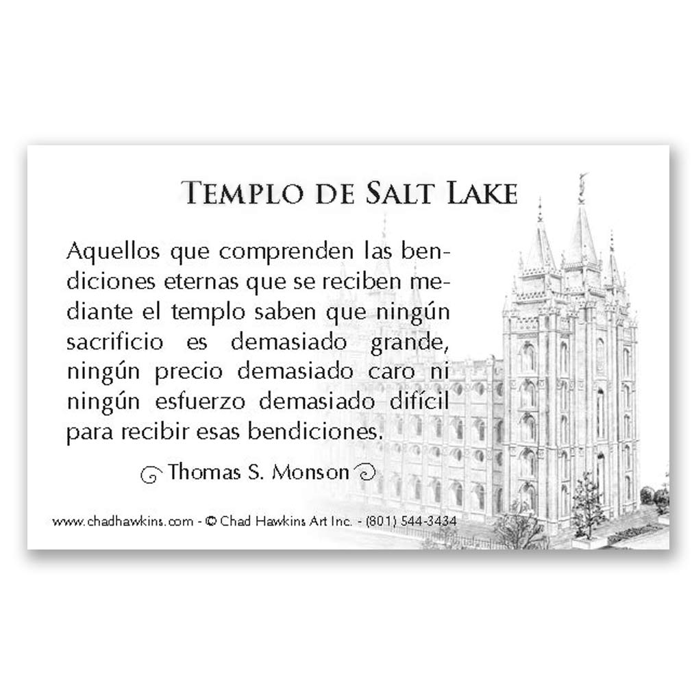 Salt Lake Temple Recommend Holder - Spanish - CH-RH264