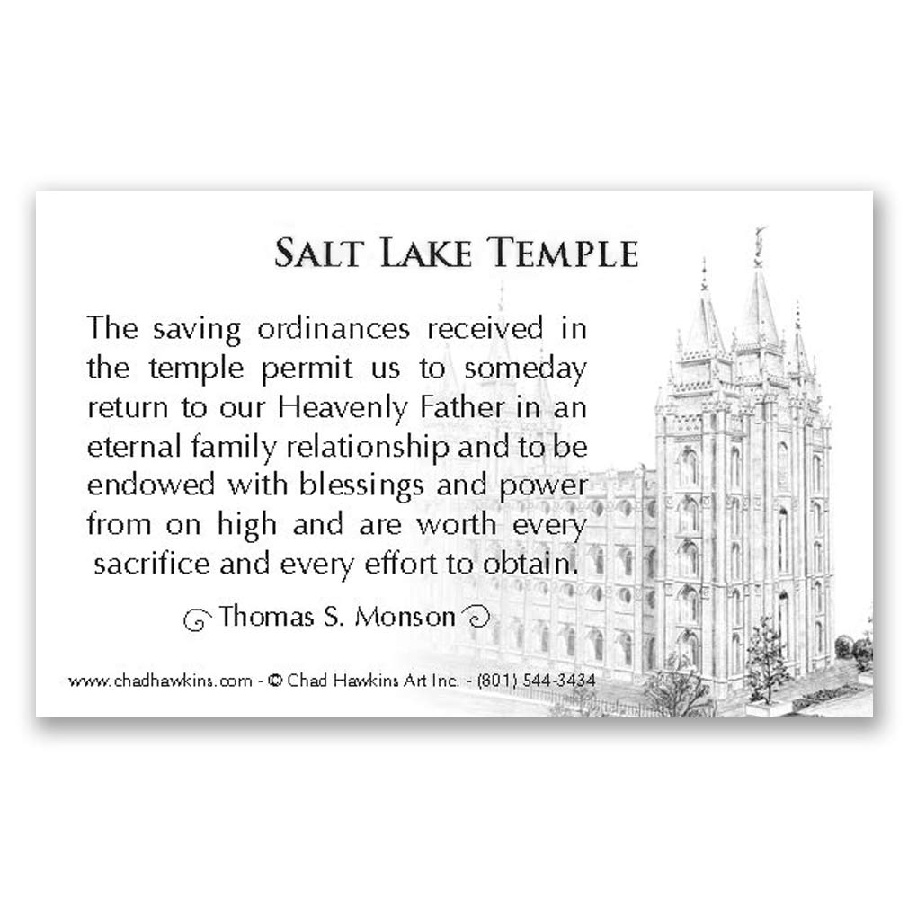 Salt Lake Temple Recommend Holder - CH-RH263